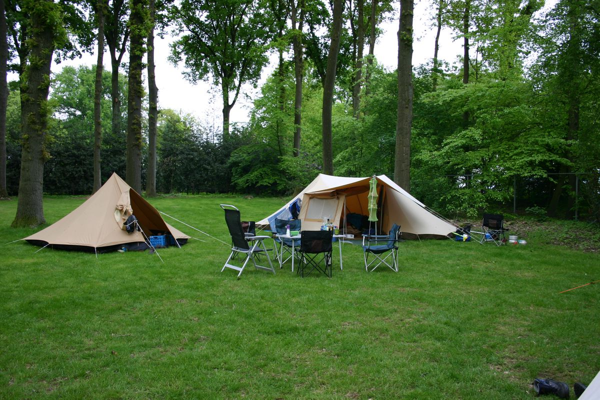 camping in de natuur
