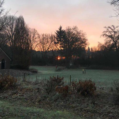 ondergaande zon camping montferland